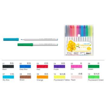 12色細支彩色筆