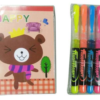筆記本4色螢光筆